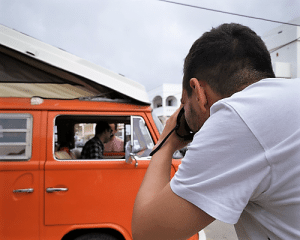 campervan photoshoot with a photographer
