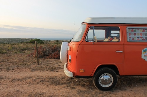 "Campervan VW T2 ""Pumpkin"""